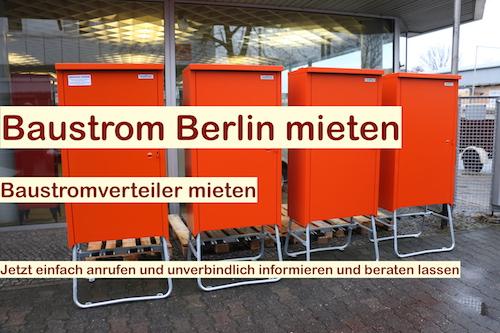 Baustrom Berlin - Baustromausrüstung - Baustrom rundum Service