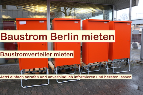Baustromverteiler anschließen Berlin