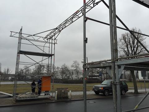 Kabelbrücke Berlin - Baustrom
