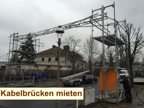 Baustrom Potsdam - Kabelbrücke Gerüstbrücke