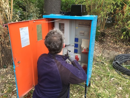 Baustrom vom Nachbarn - Stromverbrauch - Erlaubnis